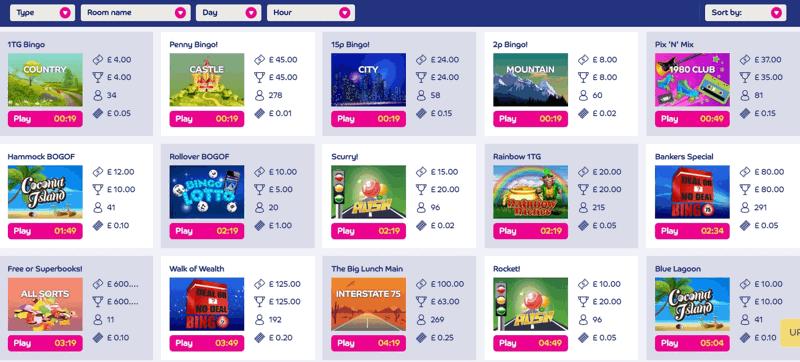 Gala Bingo Schedule